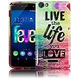 Wiko Fever 4G LIVE THE LIFE Custodia protettiva molle della copertura della cassa del respingente Smartphone portatile Flip Cover posteriore thematys®