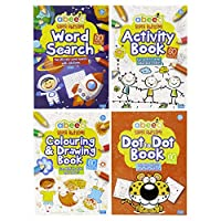 abeec Activity Books for Children - 4 Books - Contains Word Search, Activity Book, Dot to Dot and a Colouring Book for Toddlers.