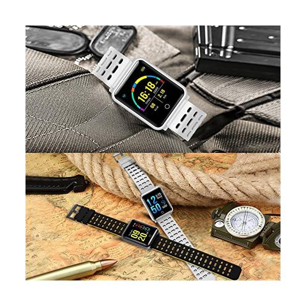 CanMixs Pulsera de Actividad Smartwatch, CM11 Impermeable IP68 Pulsera Inteligente con Podómetro, Monitor de Ritmo… 9