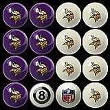 Minnesota Vikings NFL Home Vs. Away Billiard Balls Full Set (16 Ball Set) By Imperial International