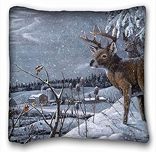 decorativo-quadrato-throw-pillow-case-animali-david-h-bollman-cervo-inverno-neve-villaggio-art-18-x-
