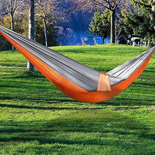 Hängematte, ViViSun Tragbaren Parachute Hängematte Picknickdecke Tuchhängematte Doppel-Hängematte bis 200 kg - 2