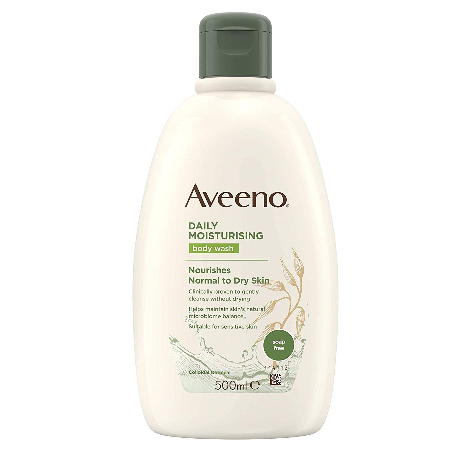 Aveeno Daily Moisturising Body Wash – Leaves Dry and Sensitive Skin Feeling Moisturised – Suitable for Normal to Dry Skin – 500 ml