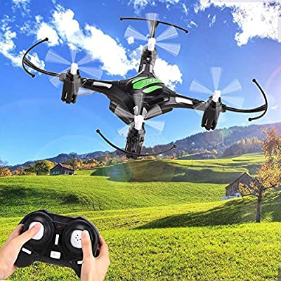 Cewaal Haihuic Headless Mode 2.4G 4CH 6 Axis RTF Mini RC Quadcopter Drone Helicopters with LED Lights
