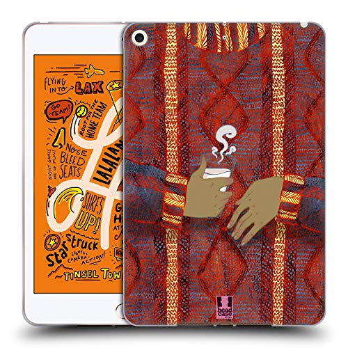 Head Case Designs Kokos Tasse Gestricktes Pullover-Muster Soft Gel Huelle kompatibel mit iPad Mini (2019)