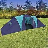 Anself Campingzelt Familienzelt Gruppenzelt Zelt 9 Personen Wasserdicht 3 Farbe Optional