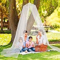 Mosquitera de Easymaxx, ideal para camas dobles, una malla extra fina, apertura práctica de imanes