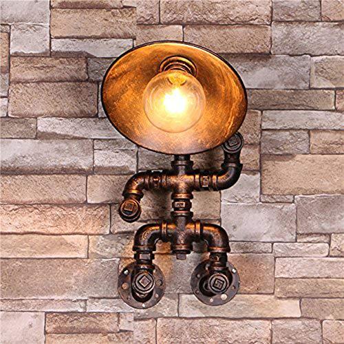 SUNA LED - Applique Murale Pour Conduite D'eau, Art Rétro, éclairage Européen De Vent Industriel, Mur De Fer Forgé Lampt [Classe énergétique A ++]