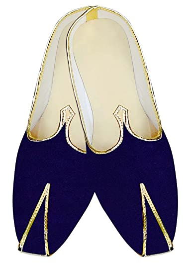 Mens Blue Velvet Wedding Shoes Traditional MJ13932