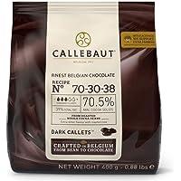 Sacchetto di cioccolato fondente belga finissimo da 400 g - 70,5% di solido di cacao
