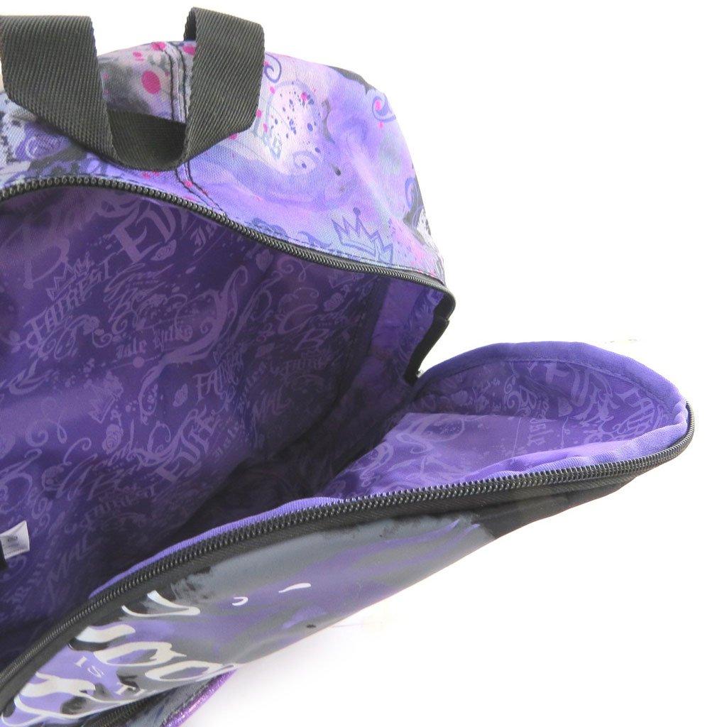 61aYE8KnlLL - Mochila 'Descendants'negro púrpura (38x31x12 cm).