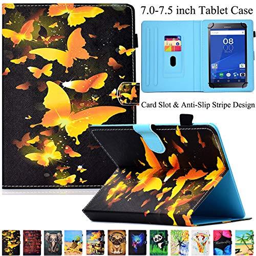 Universal Tablet-Schutzhülle, Artyond PU Leder Multi-Winkel Ständer Hülle mit Kartenschlitzen für Android, Windows, Kindle, Galaxy Tab und andere 17,8-7,5 Zoll Tablet, goldfarben - Ständer Für 7-zoll-kindle