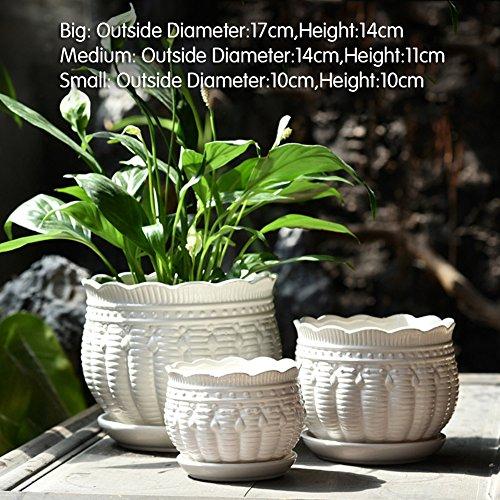 Dekorative Design Keramikplatten Pflanze Blume Pflanzer Töpfe,Entwickelt Mit Erreichen Die Perfekt...