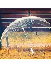 Guo 16 de hueso, hombres y mujeres retro paraguas transparente largo paraguas Paraguas Paraguas creativa del negocio ( Color : #3 )