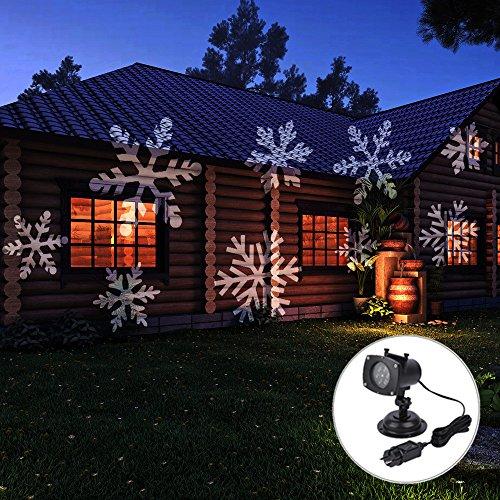 Projektionslampe LED Strahler Beleuchtung ArkarTech® Weihnachtsbeleuchtung mit 12 Verschiedene Muster für Garten Festival-Dekoration und Party [Energieklasse (Halloween Kosten Sie)
