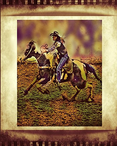 Horse Notebook: College Ruled - Lined Journal - Composition Notebook - Soft Cover Writer's Notebook or Journal for School  - College or Work - Antiqued Barrel Racer Crazy Horse Rodeo