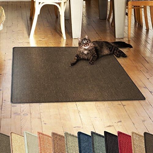 casa pura Sisalteppich Natural Line   Ideal als Kratzmatte für Katzen   schadstofffrei & widerstandsfähig   Sisal Kratzteppich in Vielen Farben und Größen (Dunkelbraun, 50x50 cm)