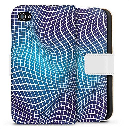 Apple iPhone X Silikon Hülle Case Schutzhülle Verzerrung Dimension Illusion Sideflip Tasche weiß