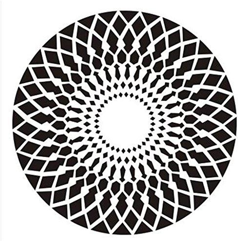 LYP-Teppiche modernen europäischen Stil Wohnzimmer Runde Teppich für Wohnzimmer Schlafzimmer Bettseite Zuhause Stuhl Groß Bereich Wolldecke Geometrisch Muster Schwarz Weiß Grau Gewaschener Couchtisch Nachttischteppich ( Farbe : Schwarz , größe : 100CM ) (Geometrischen Bereich Teppich)