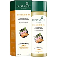 Biotique Almond Oil Soothing Face and Eye Make Up Cleanser for Normal to Dry Skin, 120ml