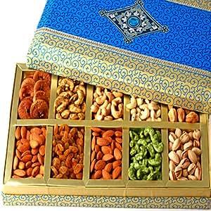 Ghasitaram Gifts Dry Fruit - Exotic Dry Fruit Box of 10 Dry Fruits (Multicolour,Rectangle)