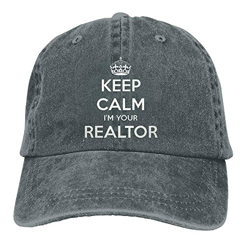 Keep Calm I'm Your Realtor Polo Style Classic Baseball Dad Hat for Women and Men (Golf Knit Classic)