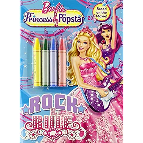 Rock and Rule (Barbie) (Color Plus Chunky Crayons) by Mary Tillworth (2012-07-24) - Chunky Rock