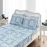Best Brielle Sheet and Pillowcase Sets - Brielle 807000223084 Sheet Set, Queen, Ibiza Blue Review