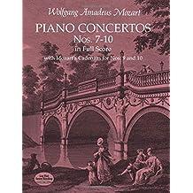 Piano Concertos Nos. 7-10 in Full Score: With Mozart's Cadenzas (Dover Music Scores)