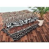 XXL Bodenkissen Dekokissen gefüllt 100x60 cm - Zebra