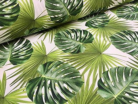 Grün Palm Blätter Baumwolle Stoff für Vorhang Polster?Grün Tropical Leaf?140cm (Meterware)