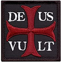 Deus Vult God Wills It Crusader Knight Holy Cross Crusaders Tactical Morale Sew Thermocollant Écusson Patch