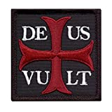 2AFTER1 Deus Vult God Wills It Crusader Knight Holy Cross Crusaders Tactical Morale Sew Iron on Patch