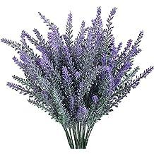 Turelifes 4pcs Artificiali Lavenders Bouquet in Viola Fiori Fiori Di cerimonia nuziale della decorazione della casa