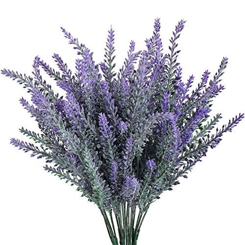 Turelifes Künstlicher Lavendel-Strauß mit lila Blumen, 4 Stück