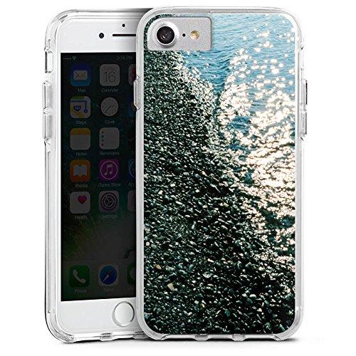 Apple iPhone X Bumper Hülle Bumper Case Glitzer Hülle Ufer Kiesel Water Bumper Case transparent