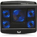 Skgames Refroidisseur pour ordinateur portable Notebook Cooler Stand | 5 x Ventilateurs | 2 x USB | 10-17' POUCES | Noir