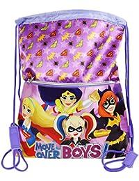 DC Comics Super Hero Girls Bolsas de morral de lazo Mochila Bolso Escolar Ninos