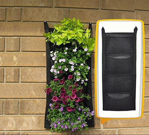 Muebles Bonitos - Vertical Aufhängbare Garden Herb Trough Wall Planter Flowers – Hängekorb-4 Stipendien