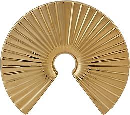 Living Essence-Blake Shell Vase Small Gold (Length : 30 cm; Bredth : 6 cm; Height : 26.5 cm) by HomeTown
