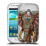 Offizielle Bioworkz Elefant Verziert 1 Bunte Wildtiere 2 Soft Gel Hülle für Samsung Galaxy S3 III mini