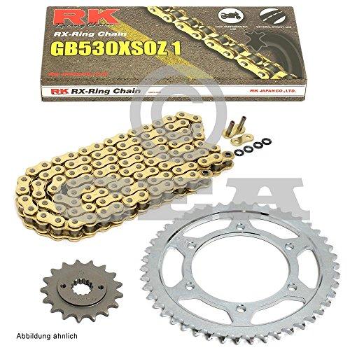 Kettensatz Honda CBR 600 F 91-96, Kette RK GB 530 XSO 108, offen, GOLD, 15/43