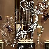 Junjie Nenu Frohe 2 pcs Weihnachten Hintergrund Wand Dekoration Entfernbare Wandaufkleber Scenic Runde für Wohnzimmer Flache Fenster Layout größe: 125 * 125 cm