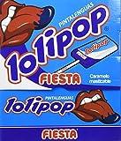 Fiesta Lolipop Caramelo Masticable con Palo Pinta Lenguas Sabor Sandía - 100 Piezas