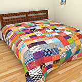SHRA Cotton Double Bed Dohar - Multicolo...