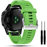 Cyeeson Soft Silicone Wristband Strap Smartwatch Bracelet Band for Garmin Fenix 5/Forerunner 935/Approach S60/Quatix 5…