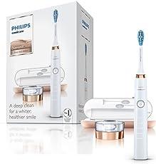 Philips Sonicare DiamondClean Elektrische Zahnbürste mit Schalltechnologie HX9312/04, rose-gold