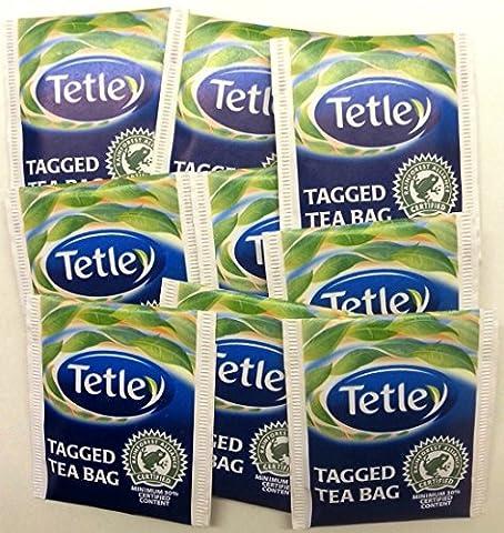 100 x Tetley Teabags Individual Enveloped Tagged Tea bags