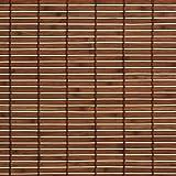 Liedeco Rollo Holz mit Seitenzug, Holzrollo für Fenster und Tür braun, 140 cm x 170 cm (B x L)