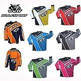 MOTORRAD Wulfsport CROSSFIRE Kinder Jersey MX ATV Quad Motocross Jersey Rennkleidung Alle Farben (8-10 Jahre, ROSA)